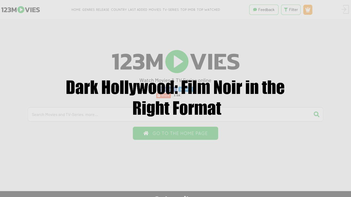Dark Hollywood: Film Noir in the Right Format